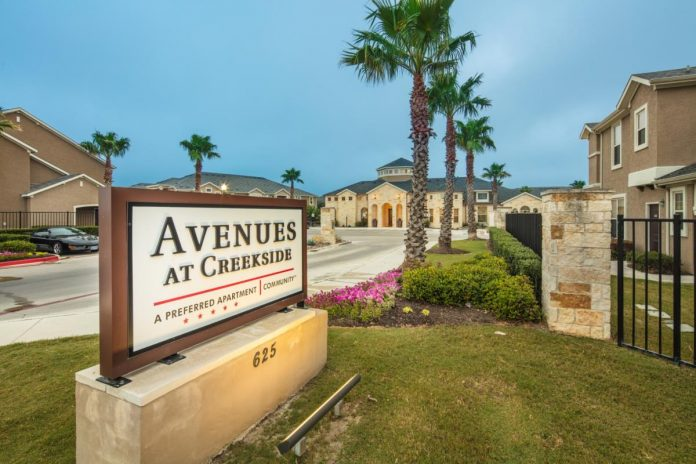Sherman Residential Acquires 395-Unit Avenues at Creekside Apartment Community Located in Growing Submarket of New Braunfels, Texas