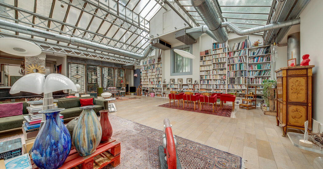 House Hunting in France: A Soaring Paris Loft With Gustave Eiffel Ceilings