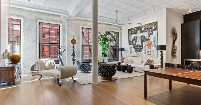 A Chic SoHo Loft Owned by Sela Ward Returns to the Market