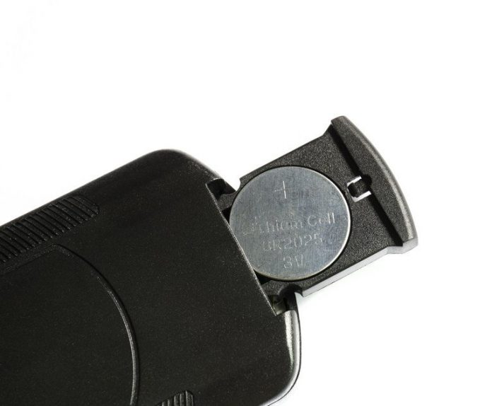 A remote control with a button battery. Photo: jeab05/Shutterstock.com