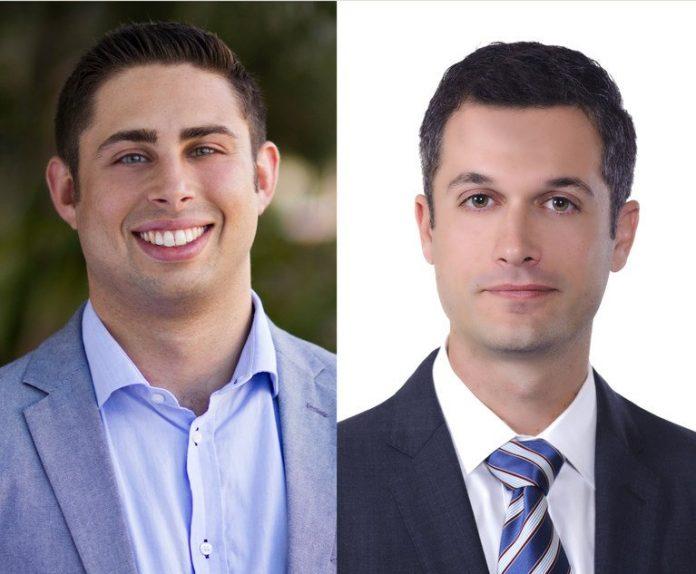 Jared Stark, left, and Steven Weber, right. Courtesy photos.